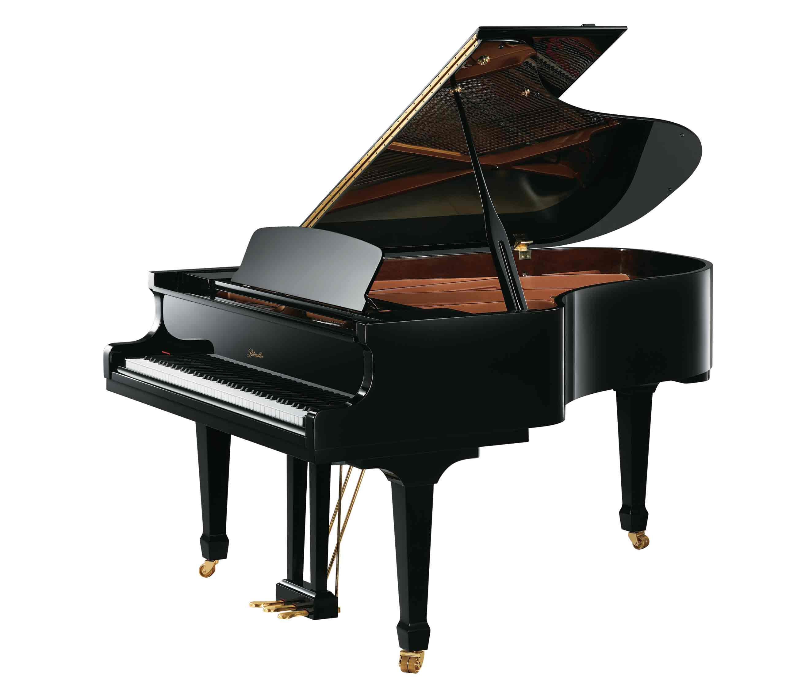 Ritmüller GH188R Parlor Grand Piano in Ebony Polish finish