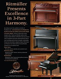 Ritmuller Pianos - Excellence in 3-Part Harmony