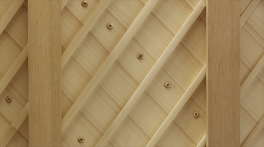 detail image of tapered soundboards