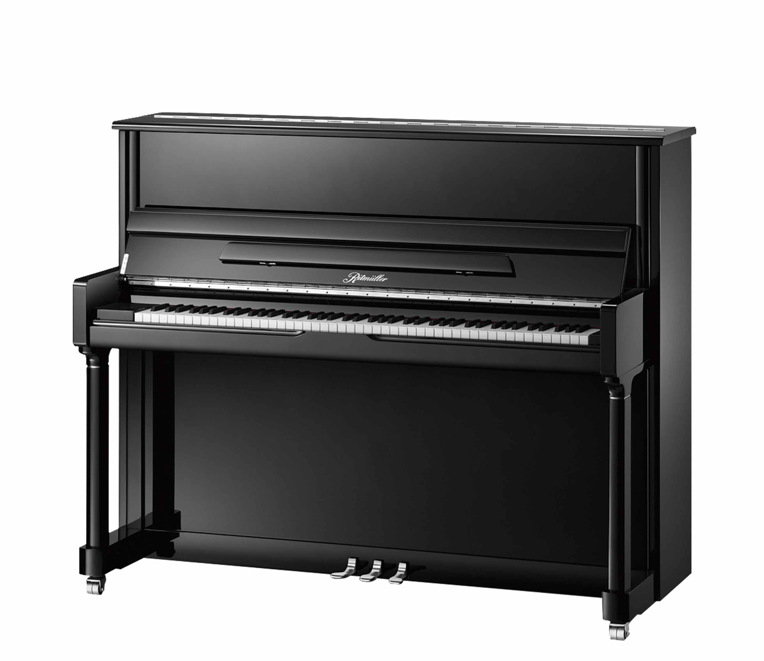 Ritmüller RB Traditional Studio upright piano in Ebony Polish finish