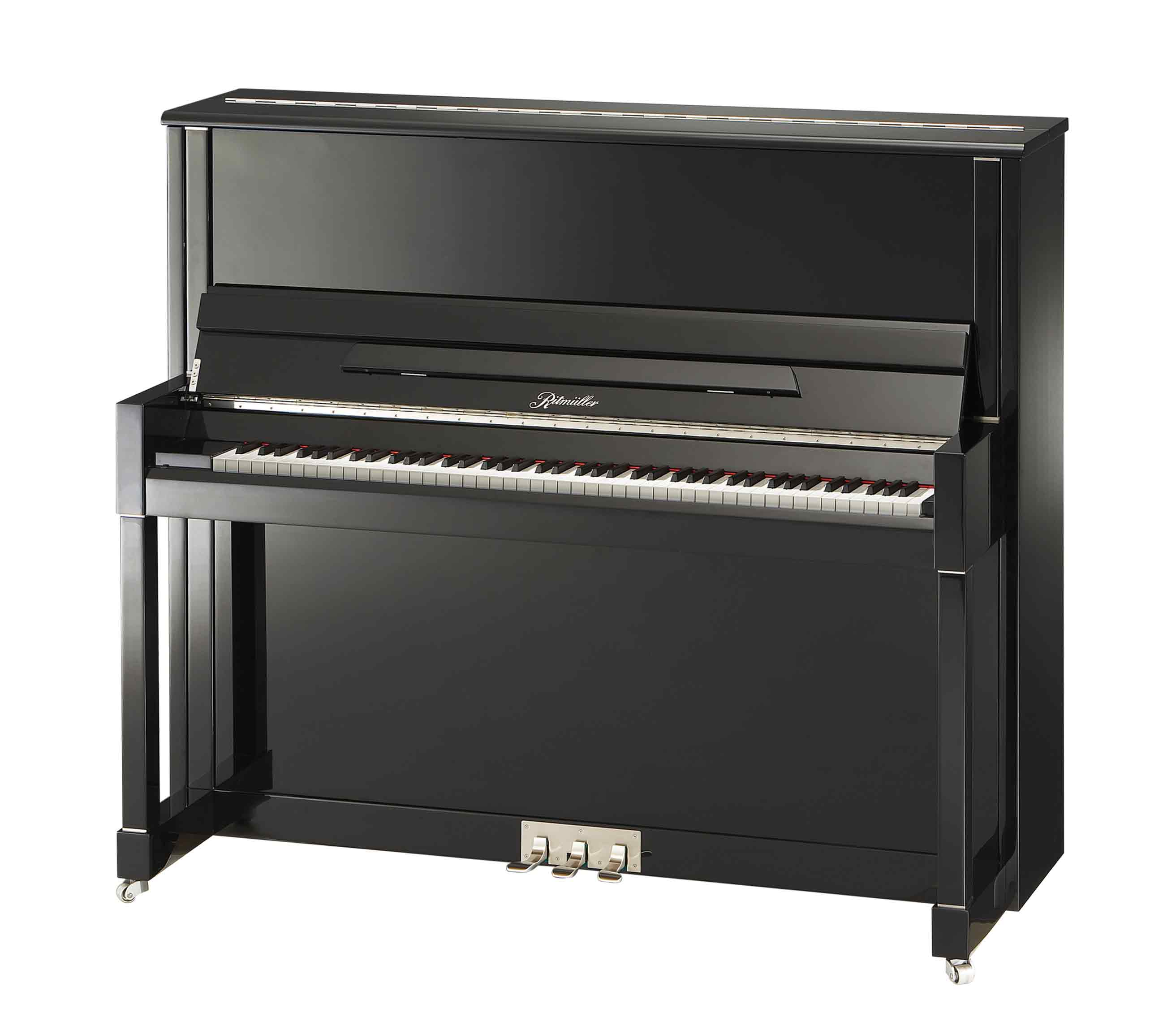 Ritmüller UH132R Concert upright piano in Ebony Polish finish