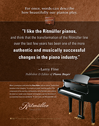 Piano Buyer Quote About Ritmuller Pianos