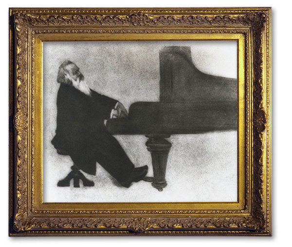 Brahms playing piano