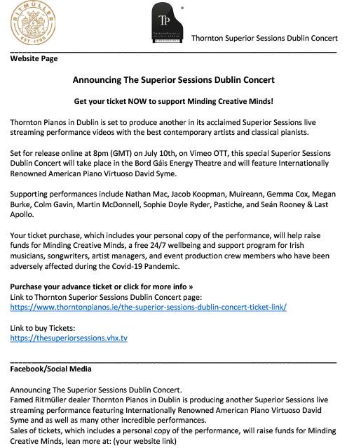 Thornton Dublin Concert Text